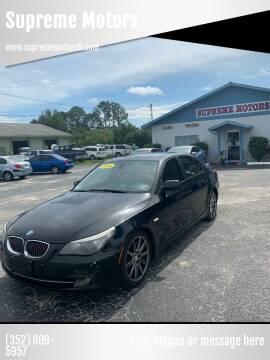 2008 BMW 5 Series for sale at Supreme Motors in Tavares FL