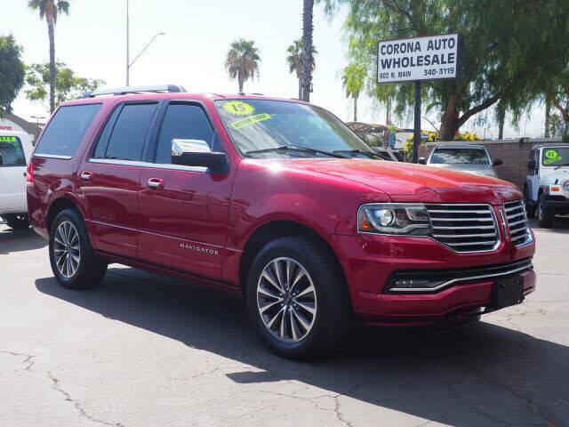 2015 Lincoln Navigator for sale at Corona Auto Wholesale in Corona CA