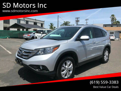 2013 Honda CR-V for sale at SD Motors Inc in La Mesa CA