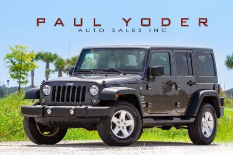 2016 Jeep Wrangler Unlimited for sale at PAUL YODER AUTO SALES INC in Sarasota FL