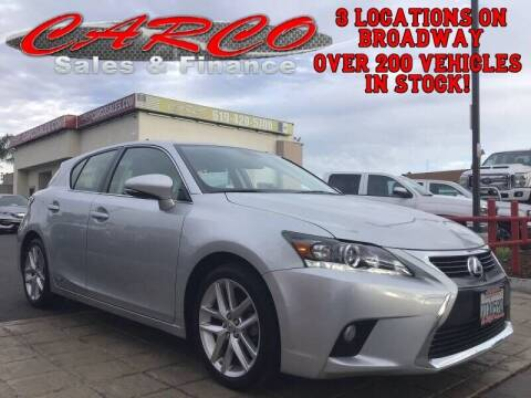 2016 Lexus CT 200h for sale at CARCO SALES & FINANCE in Chula Vista CA