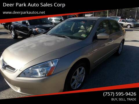 2004 Honda Accord for sale at Deer Park Auto Sales Corp in Newport News VA