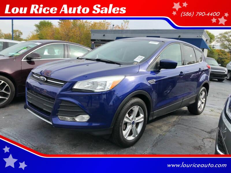 2014 Ford Escape for sale at Lou Rice Auto Sales in Clinton Township MI