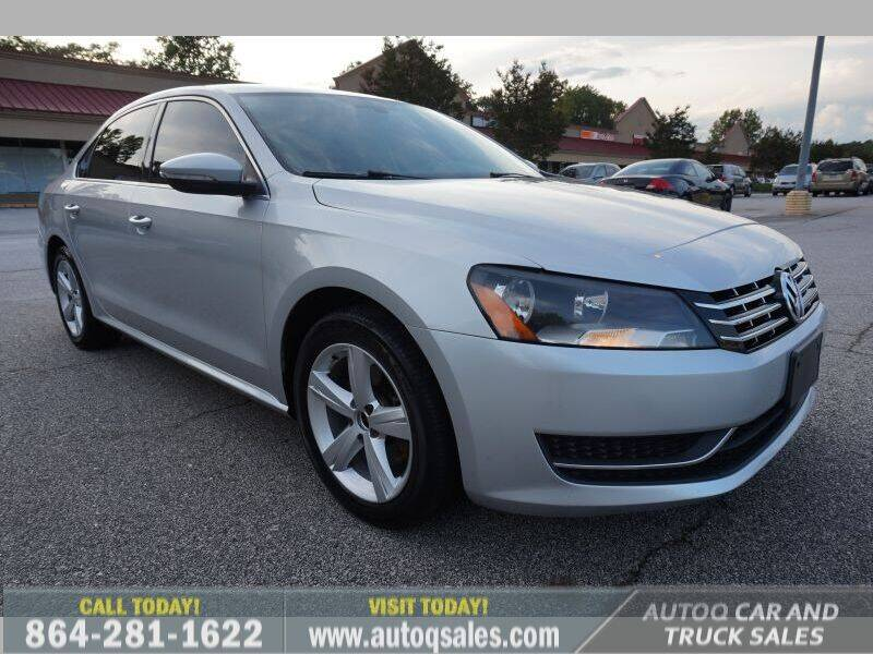 2012 Volkswagen Passat for sale at Auto Q Car and Truck Sales in Mauldin SC