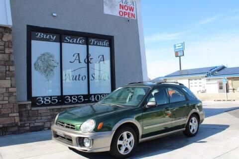 2002 Subaru Impreza for sale at A&A Auto Sales in Orem UT