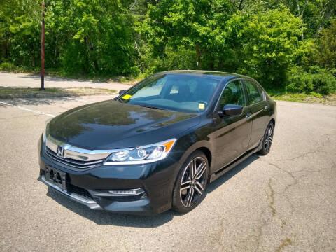 2016 Honda Accord for sale at Washington Street Auto Sales in Canton MA