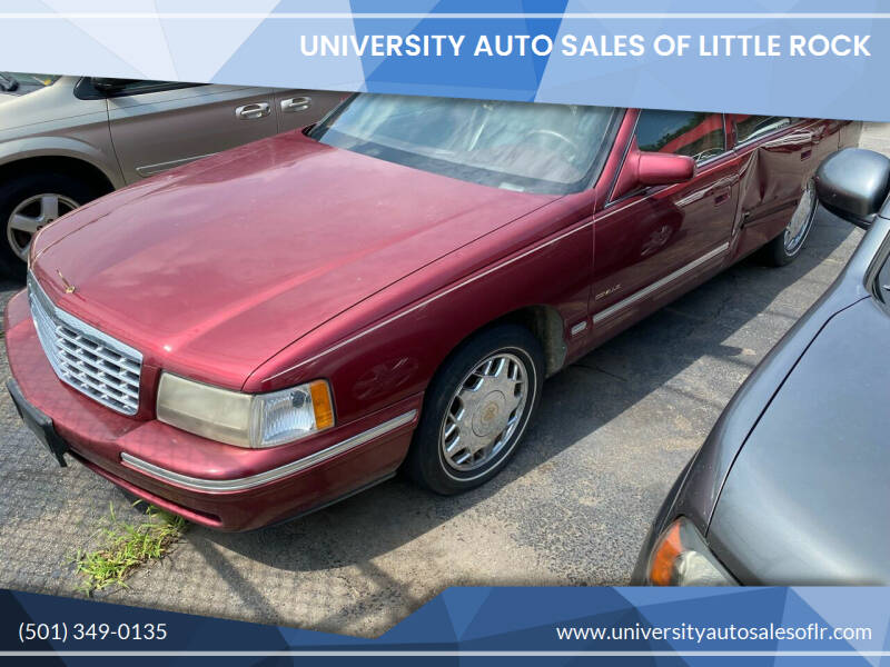 1998 Cadillac DeVille for sale at University Auto Sales of Little Rock in Little Rock AR