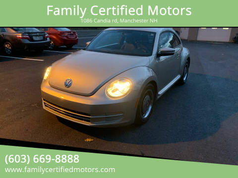 2013 Volkswagen Beetle for sale at Family Certified Motors in Manchester NH