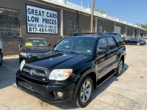 2007 Toyota 4Runner for sale at BARCLAY MOTOR COMPANY in Arlington TX