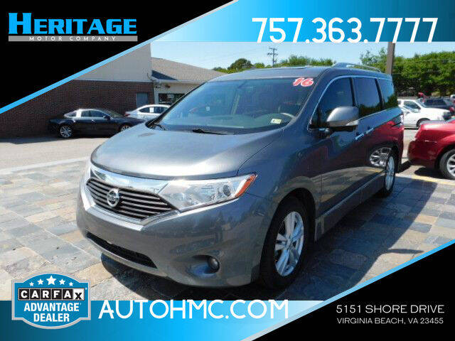 2016 Nissan Quest for sale at Heritage Motor Company in Virginia Beach VA
