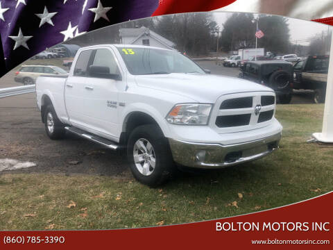 2013 RAM Ram Pickup 1500 for sale at BOLTON MOTORS INC in Bolton CT