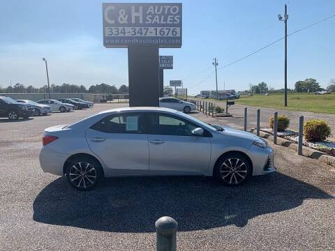 2019 Toyota Corolla for sale at C & H AUTO SALES WITH RICARDO ZAMORA in Daleville AL