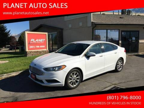2017 Ford Fusion for sale at PLANET AUTO SALES in Lindon UT