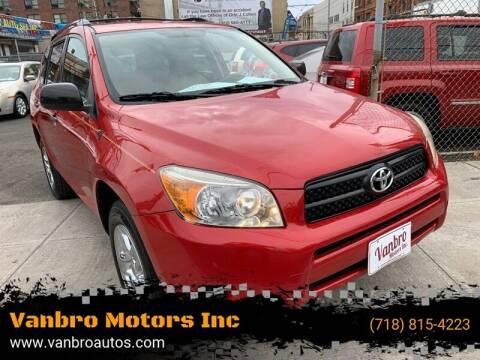 2007 Toyota RAV4 for sale at Vanbro Motors Inc in Staten Island NY