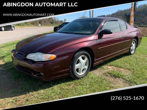 2004 Chevrolet Monte Carlo for sale at ABINGDON AUTOMART LLC in Abingdon VA