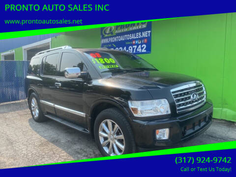 2008 Infiniti QX56 for sale at PRONTO AUTO SALES INC in Indianapolis IN