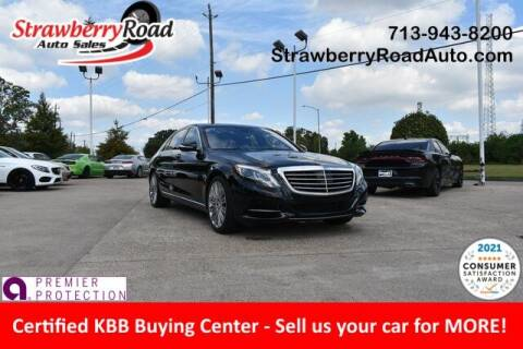 2017 Mercedes-Benz S-Class for sale at Strawberry Road Auto Sales in Pasadena TX