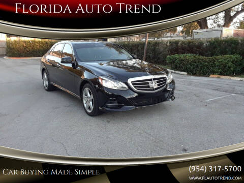 2014 Mercedes-Benz E-Class for sale at Florida Auto Trend in Plantation FL