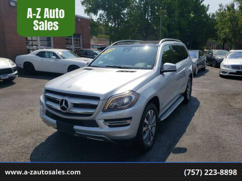 2013 Mercedes-Benz GL-Class for sale at A-Z Auto Sales in Newport News VA
