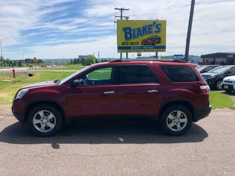 2010 GMC Acadia for sale at Blake's Auto Sales in Rice Lake WI
