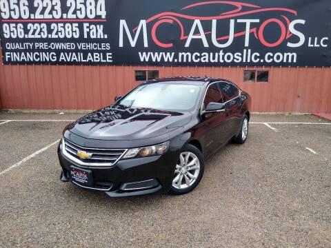 2016 Chevrolet Impala for sale at MC Autos LLC in Pharr TX