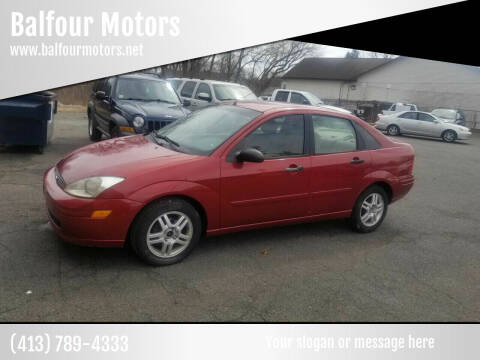 2001 Ford Focus for sale at Balfour Motors in Agawam MA