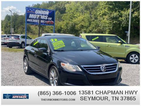2012 Volkswagen CC for sale at Union Motors in Seymour TN