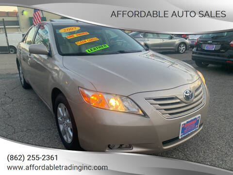 2007 Toyota Camry for sale at Affordable Auto Sales in Irvington NJ
