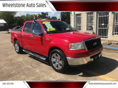 2008 Ford F-150 for sale at Wheelstone Auto Sales in La Porte TX