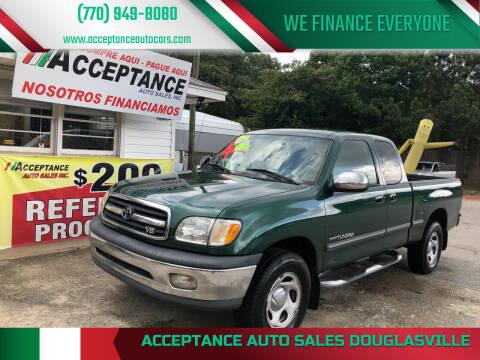2001 Toyota Tundra for sale at Acceptance Auto Sales Douglasville in Douglasville GA