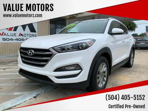 2016 Hyundai Tucson for sale at VALUE MOTORS in Kenner LA