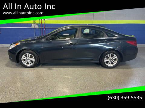 2012 Hyundai Sonata for sale at All In Auto Inc in Addison IL
