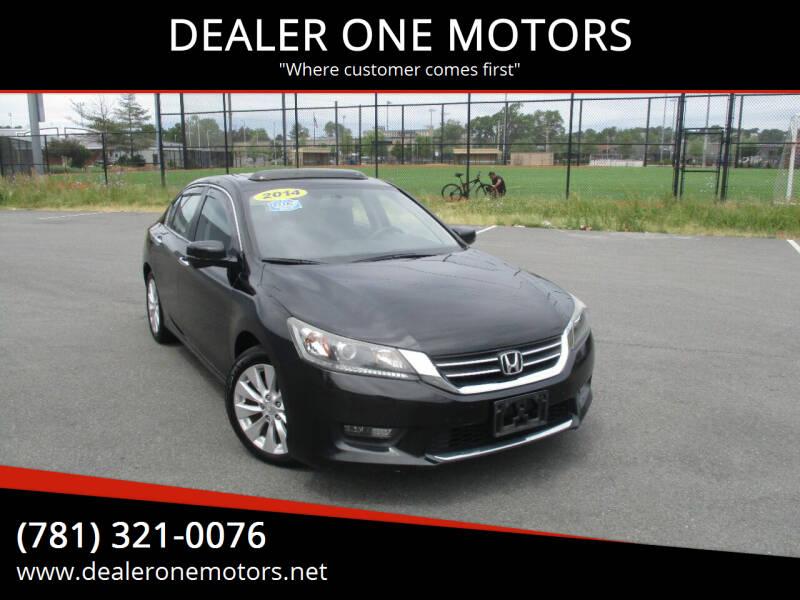 2014 Honda Accord for sale at DEALER ONE MOTORS in Malden MA