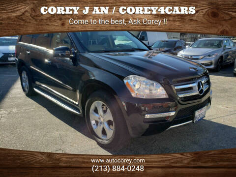 2012 Mercedes-Benz GL-Class for sale at WWW.COREY4CARS.COM / COREY J AN in Los Angeles CA