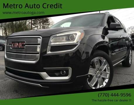 2014 GMC Acadia for sale at Used Imports Auto - Metro Auto Credit in Smyrna GA