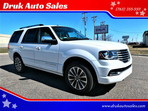 2017 Lincoln Navigator for sale at Druk Auto Sales in Ramsey MN