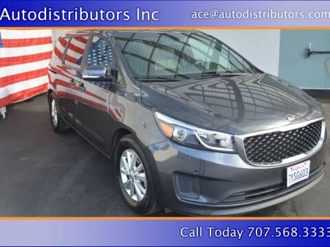 2017 Kia Sedona for sale at AutoDistributors Inc in Fulton CA