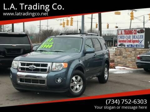 2012 Ford Escape Hybrid for sale at L.A. Trading Co. Woodhaven in Woodhaven MI