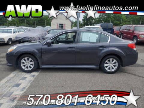 2012 Subaru Legacy for sale at FUELIN FINE AUTO SALES INC in Saylorsburg PA