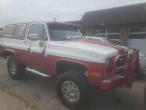 1981 Chevrolet Blazer for sale at J & J Used Cars inc in Wayne MI