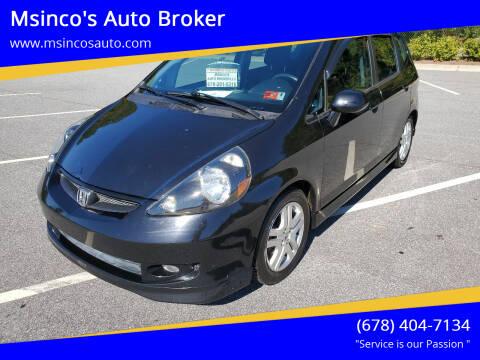 2007 Honda Fit for sale at Msinco's Auto Broker in Snellville GA