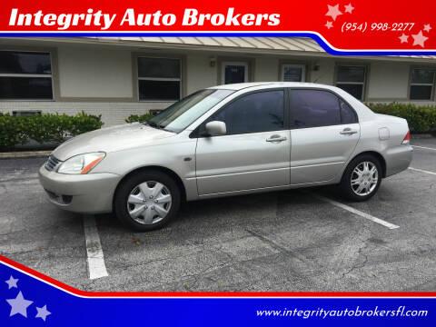 2006 Mitsubishi Lancer for sale at Integrity Auto Brokers in Pompano Beach FL
