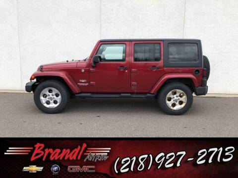 2013 Jeep Wrangler Unlimited for sale at Brandl GM in Aitkin MN