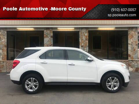 2014 Chevrolet Equinox for sale at Poole Automotive in Laurinburg NC