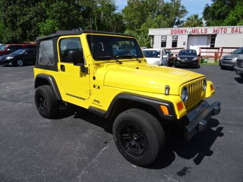 2006 Jeep Wrangler for sale at DONNY MILLS AUTO SALES in Largo FL
