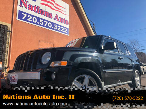 2010 Jeep Patriot for sale at Nations Auto Inc. II in Denver CO