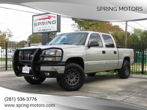 2004 Chevrolet Silverado 1500 for sale at Spring Motors in Spring TX