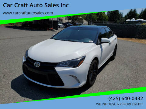 2017 Toyota Camry for sale at Car Craft Auto Sales Inc in Lynnwood WA