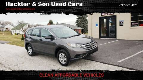 2012 Honda CR-V for sale at Hackler & Son Used Cars in Red Lion PA