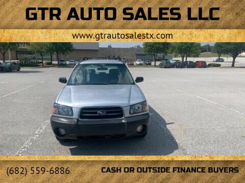 2005 Subaru Forester for sale at GTR Auto Sales LLC in Haltom City TX
